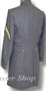 CSMC Enlisted Frockcoat (Confederate Marines) Medium Gray Back View, American Civil War