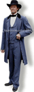 Clothing of C.S. President Jefferson Davis. Cadet Grey Wool Frock coat, vest and trousers