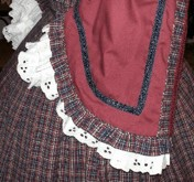 1860s Zouave Day or Evening Dress, 19th Century (1800s) Ladies Jacket and Skirt