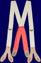 Civilain  Split / Double Front Suspenders with elastic, 19th Century (1800s) Men's Clothing