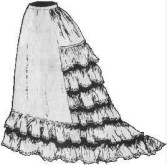 Ladies wedding slip, 19th Century (1800s) Ladies Underpinnings