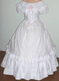 Ladies ball gown (bodice and skirt). Victorian & Civil War dresses