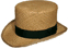 Topper - Low in straw, 19th Century (1800s) Men's Hat
