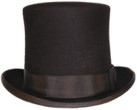 Topper - 1860's, 19th Century (1800s) Men's Hat