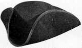 "4"" Tricorn, 18th and early 19th Century (1800s) men's hat"