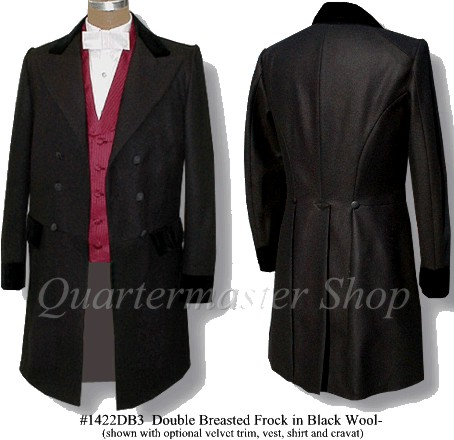 Mens double breasted frockcoat