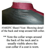 Full Collar detail for Shawl Collar Vest, 19th Century (1800s) Men's Clothing