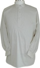 Civilain Shirt in Muslin - Bleached or Unbleached, 19th Century (1800s) Men's Clothing