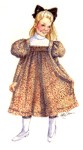1898 Dirls Dress. By Past Patterns #1662, 19th Century