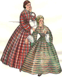 1850-1862 Fashionable Skirt by Past Patterns. #700, 19th Century
