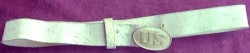Infantry Waist Belt, Regulation White Buff Leather