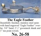 The Eagle Feather Spurs, by Colorado Saddlery