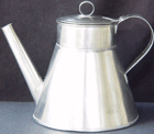 large Coffee Pot of stainless steel (1800s/19th Century)