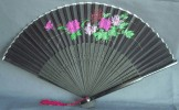 Ladies Hand Fan, Silk with floral design