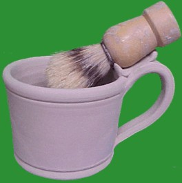 Shaving mug with brush rest