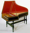 18th Century German Double Manual Harpsichord