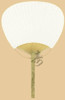 Ladies Hand Paddle Fan, Bamboo with White Paper