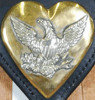 Brass Heart with Silver Eagle