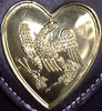 Small Brass Heart with Eagle