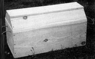 Wooden Camp Box, coffin lid (1800s/19th Century)
